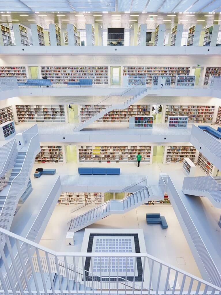 Stadtbibliothek Stuttgart Architektur Fotografie