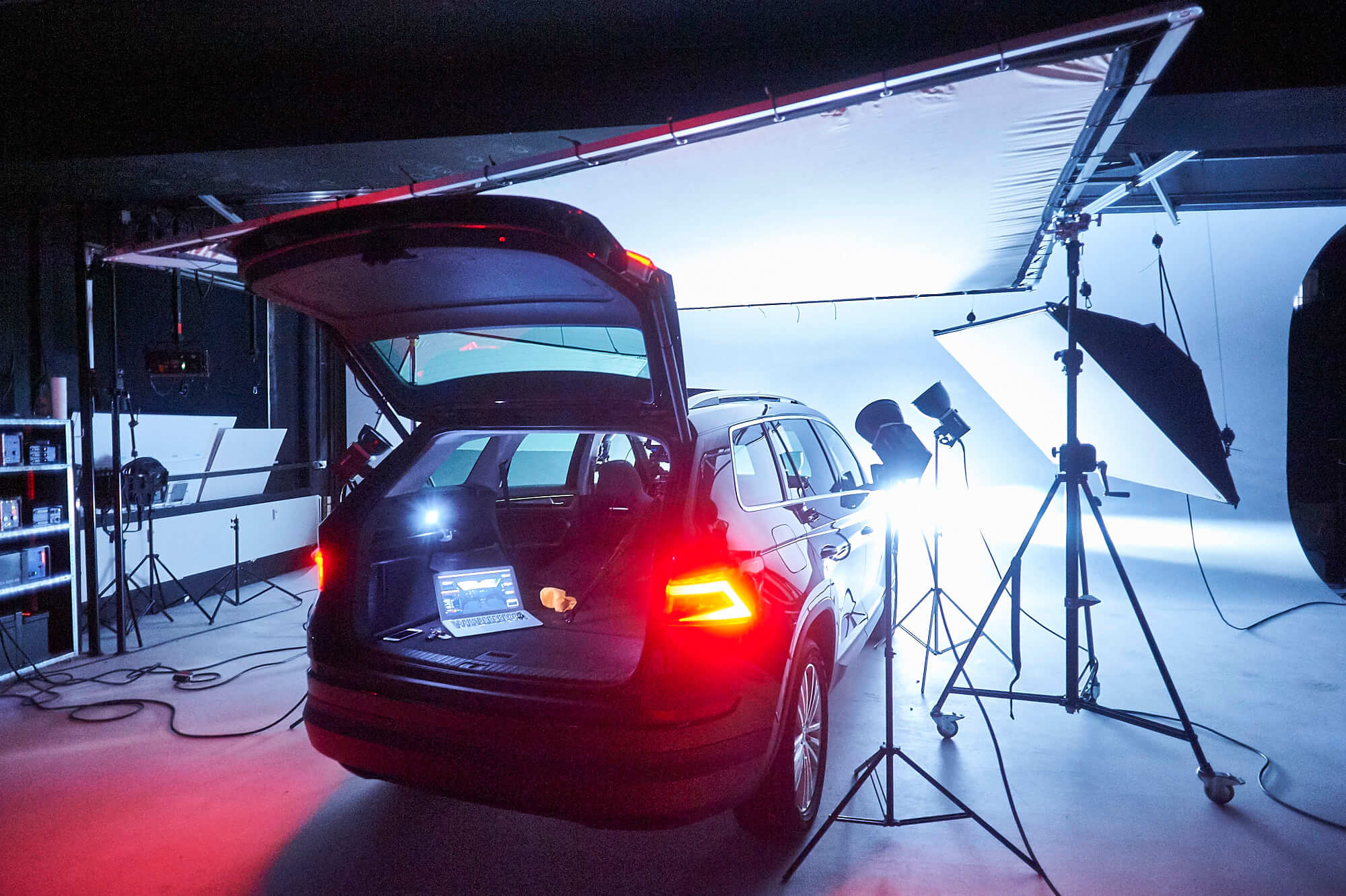 Skoda Kodiaq 4x4 Automobil Fotografie Making of Interior